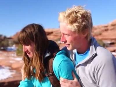 Watch A Guy Push His Crying Girlfriend Off A Cliff