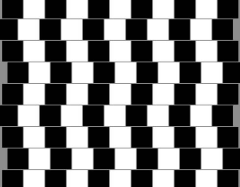 Are the horizontal lines in the image above straight or slanted ...