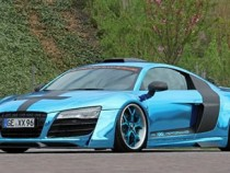 Audi R8 V10 GT X650 Is A Custom Shinny Blue Monster Machine