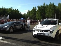 Bugatti Veyron vs Nissan Juke-R, Who Do You Think Wins? – Video