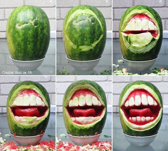 Amazing melon carving