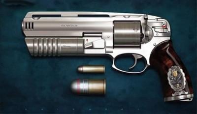 handgun with 30mm grenade launcher 2
