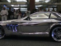 Mercedes Benz Made Of White Gold