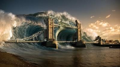 tidal wave london tower bridge