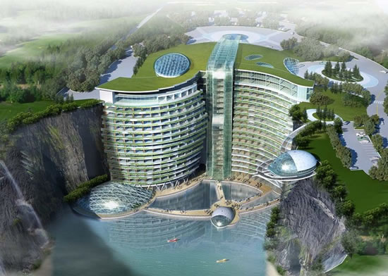 underground luxury hotel in China - Chennaites (1)