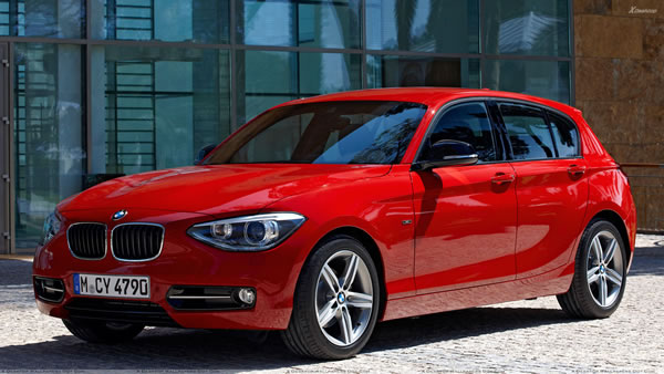 2012 BMW 1-Series in Red