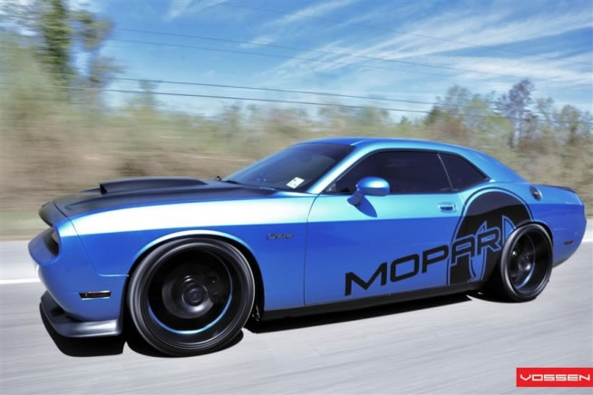 Baby Blue Dodge Challenger By Advanced Automotive Concepts