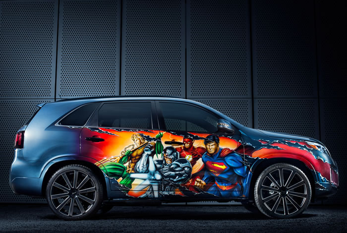 DC Entertainment Adds Kia Sorento To Their Justice League Themed cars 2