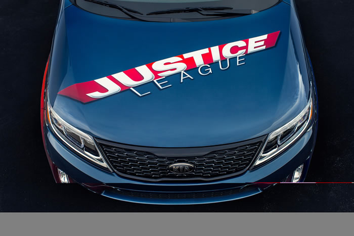 DC Entertainment Adds Kia Sorento To Their Justice League Themed cars 4