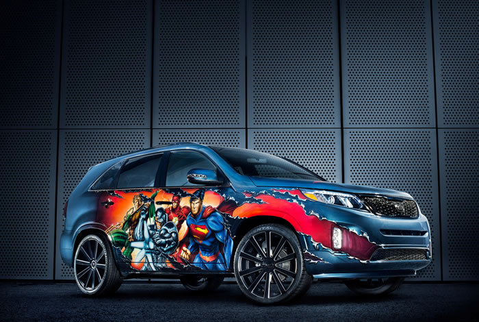 DC Entertainment Adds Kia Sorento To Their Justice League Themed cars