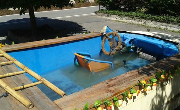 Man Arrested For Turning BMW Into Mobile Swimming Pool 2