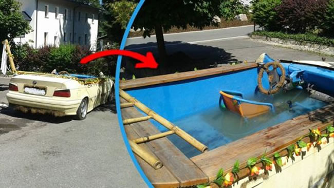 Man Arrested For Turning BMW Into Mobile Swimming Pool