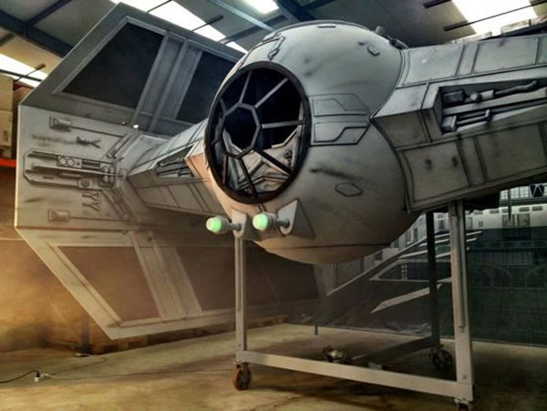 Star Wars Fans Build Full Size Imperial Tie Fighter 1