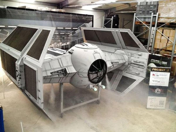 Star Wars Fans Build Full Size Imperial Tie Fighter 3