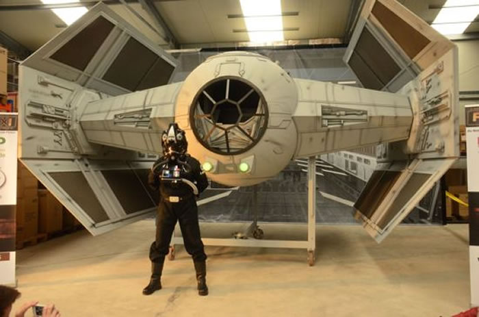 Star Wars Fans Build Full Size Imperial Tie Fighter