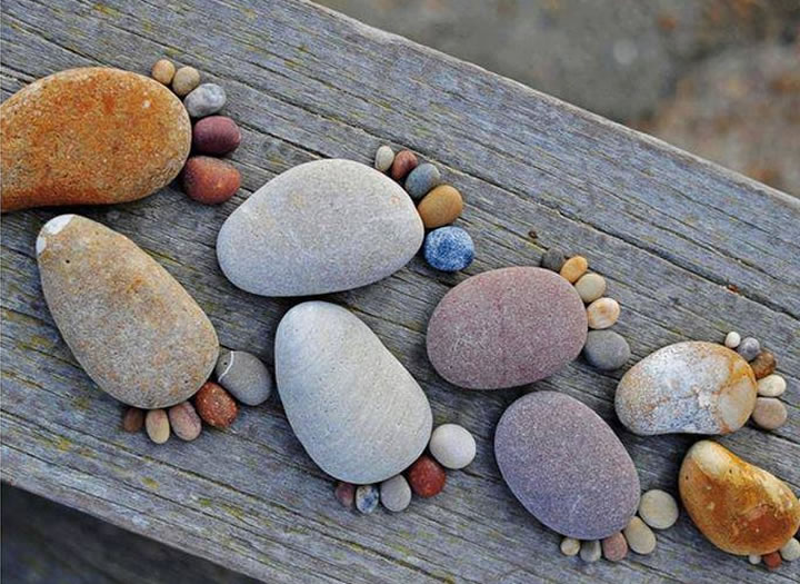 Рисунки и поделки из камней 79