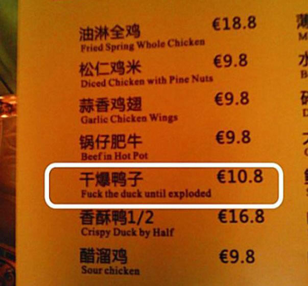 Chinese Sign Translation Fails 13