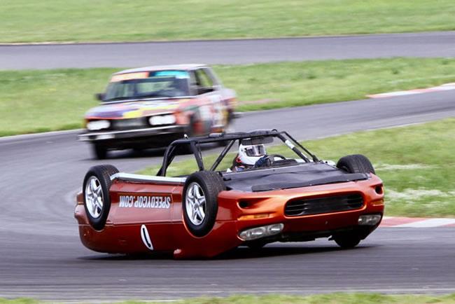 Custom Upside Down Race Car Stuns Racegoers At LeMons