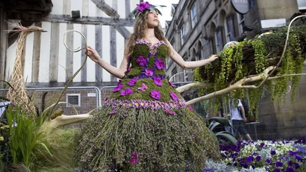 Dress Made From Flowers