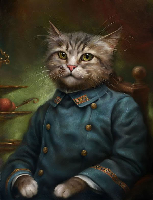 Portraits Of Cats Dressed Up As Royalty 2