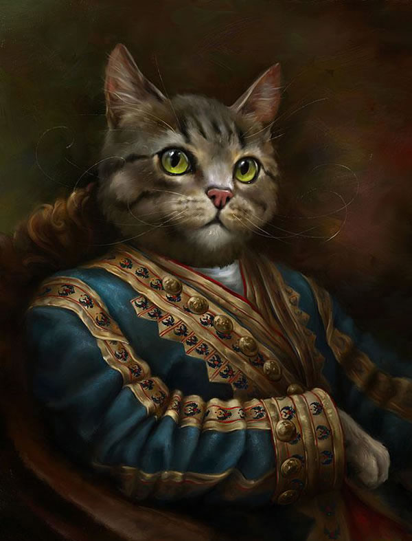 Portraits Of Cats Dressed Up As Royalty 4