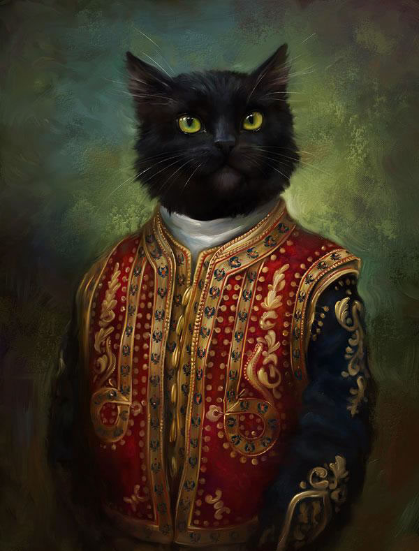 Portraits Of Cats Dressed Up As Royalty 5