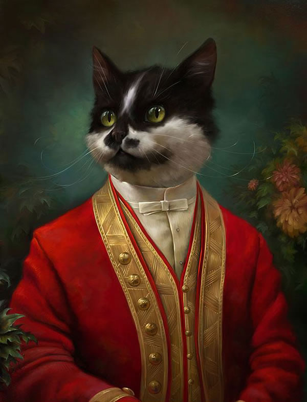 Portraits Of Cats Dressed Up As Royalty 6