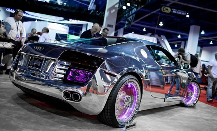 Chrome Tron Audi R8 By West Coast Customs