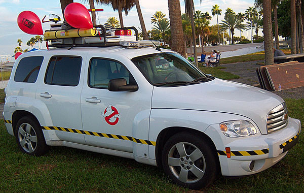 Ghostbuster Movie Fans Build Modern Ecto 1 Car 1