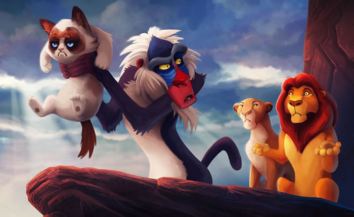 Grumpy Cat Photoshopped Into Disney Classics 2