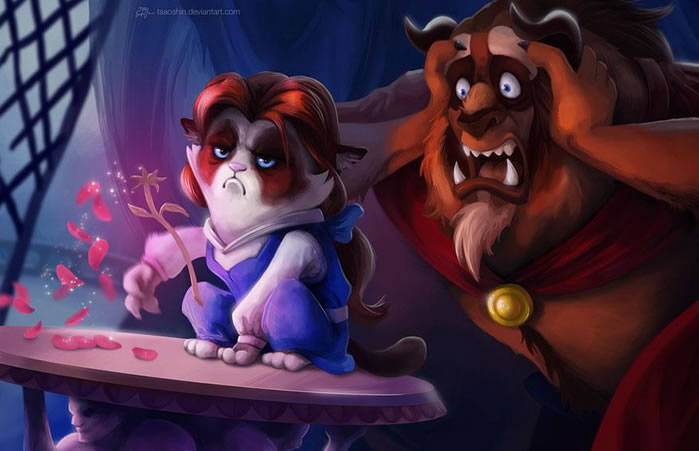 Grumpy Cat Photoshopped Into Disney Classics 3