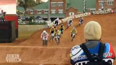 Insane Bike Race Crash - Video