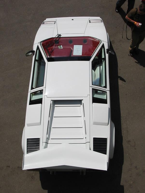 Lamborghini Countach above view