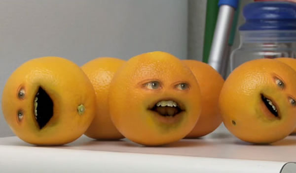 how to make annoying orange effect