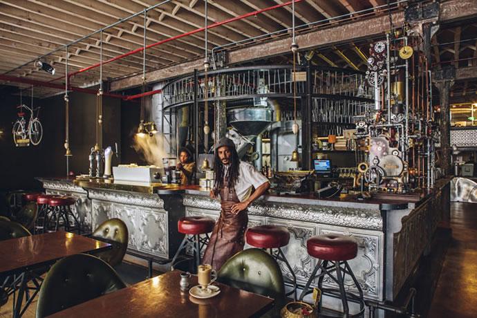 Coffee House Design - Steampunk cafe 1