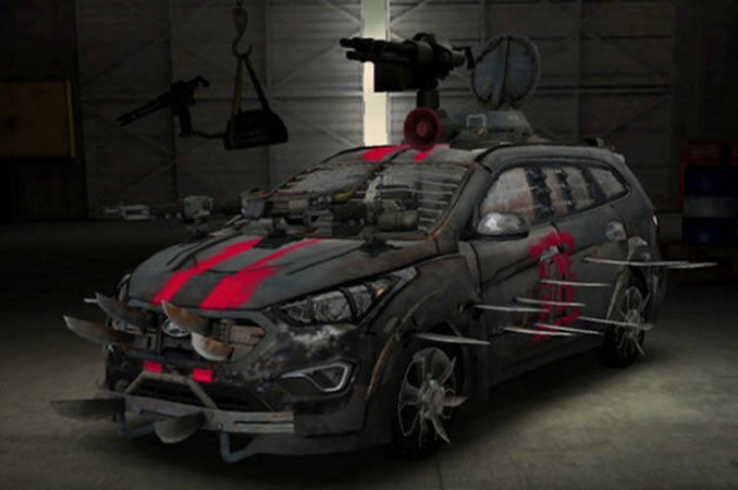 Hyundai Santa Fe Zombie Survival Machine Is No Match For The Undead