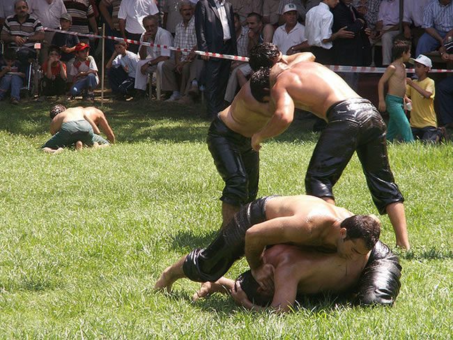 Kirpinar Oil Wrestling Tournament — Erdine, Turkey