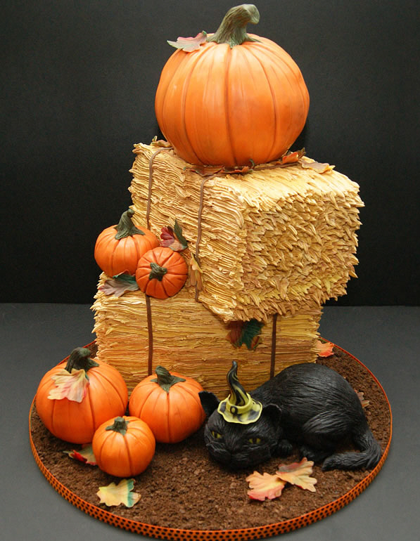 Pumpkin and Hay Bale Cake