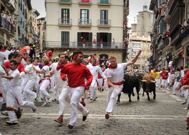 Running of the Bulls — Pamplona, Spain