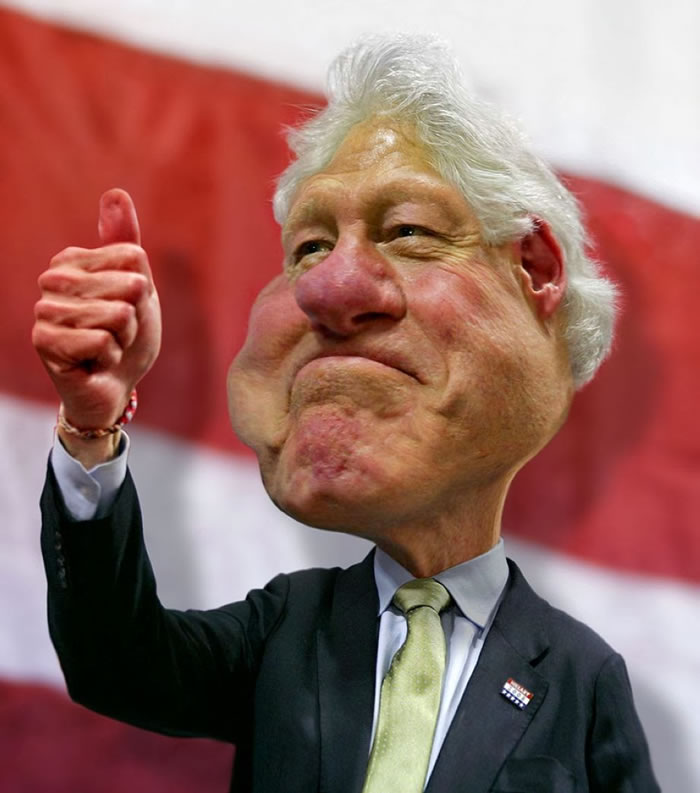 12 Custom Portraits 15 Crazy Celebrities Caricatures Bill Clinton
