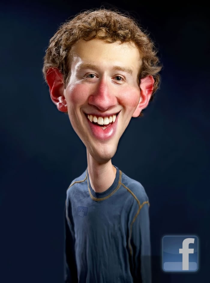7 Custom Portraits 15 Crazy Celebrities Caricatures Mark Zuckerberg