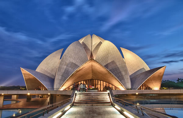12 House Of Worship Aka Lotus Temple, Delhi, India - Online Architecture Gallery Top 50 Most Amazing Designs In The World