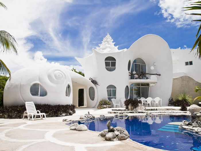 17 The Conch Shell House Isla Mujeres, Mexico - Online Architecture Gallery Top 50 Most Amazing Designs In The World