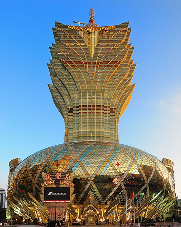 2 Grand Lisboa, Macao - Online Architecture Gallery Top 50 Most Amazing Designs In The World