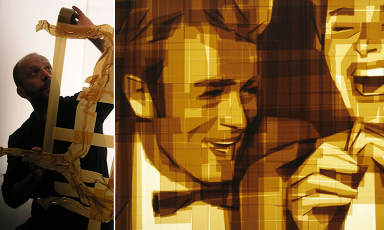 Amazing Graphic Arts Made With A Roll Of Packing Tape (1)