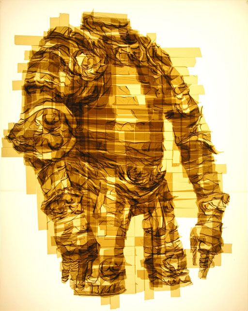 Amazing Graphic Arts Made With A Roll Of Packing Tape (7)