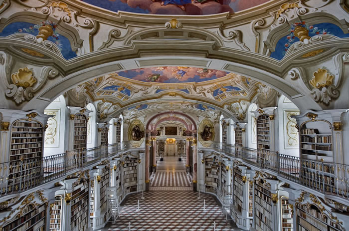 Austria Vacation Largest Monastery Library In The World (1)