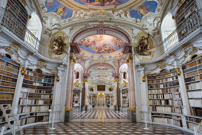 Austria Vacation Largest Monastery Library In The World (3)