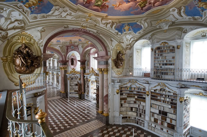 Austria Vacation Largest Monastery Library In The World (5)