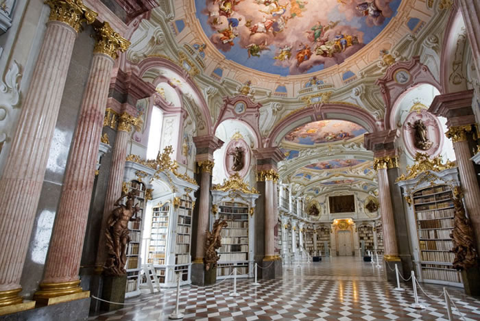 Austria Vacation Largest Monastery Library In The World (6)